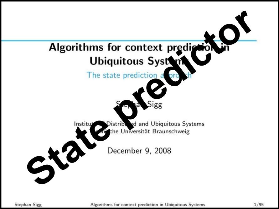 State predictor