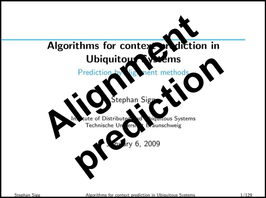 Alignment prediction