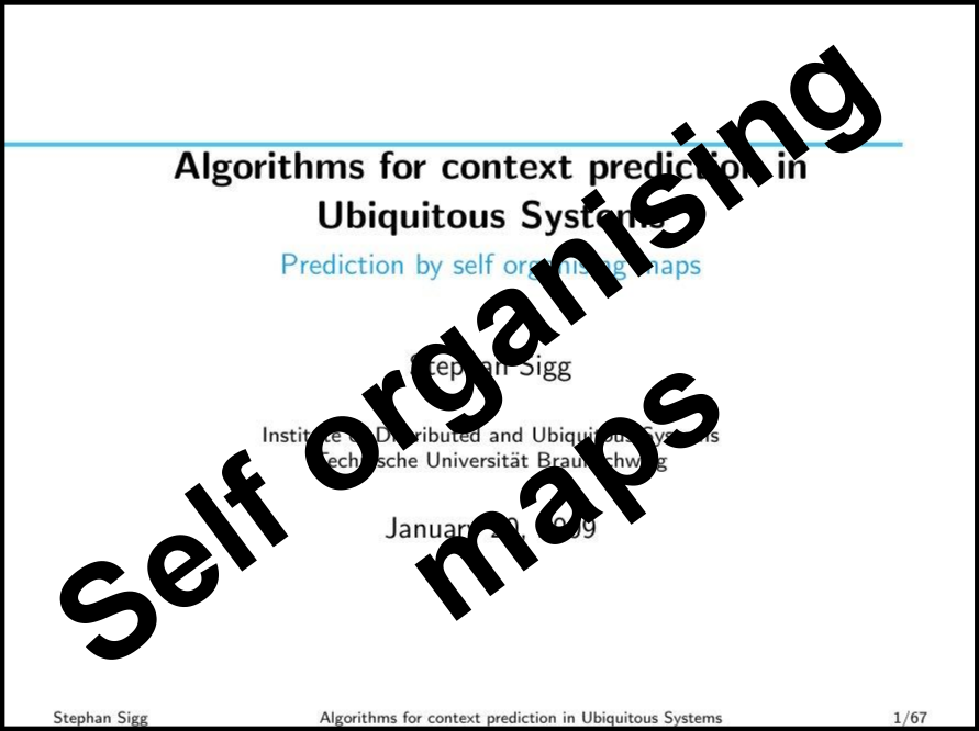 Prediction by self organising maps