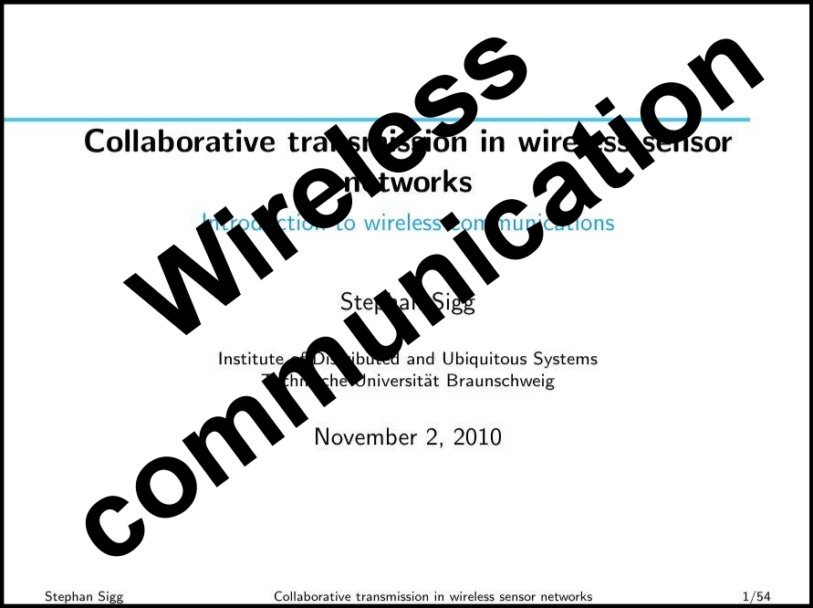 Introduction to communication technology