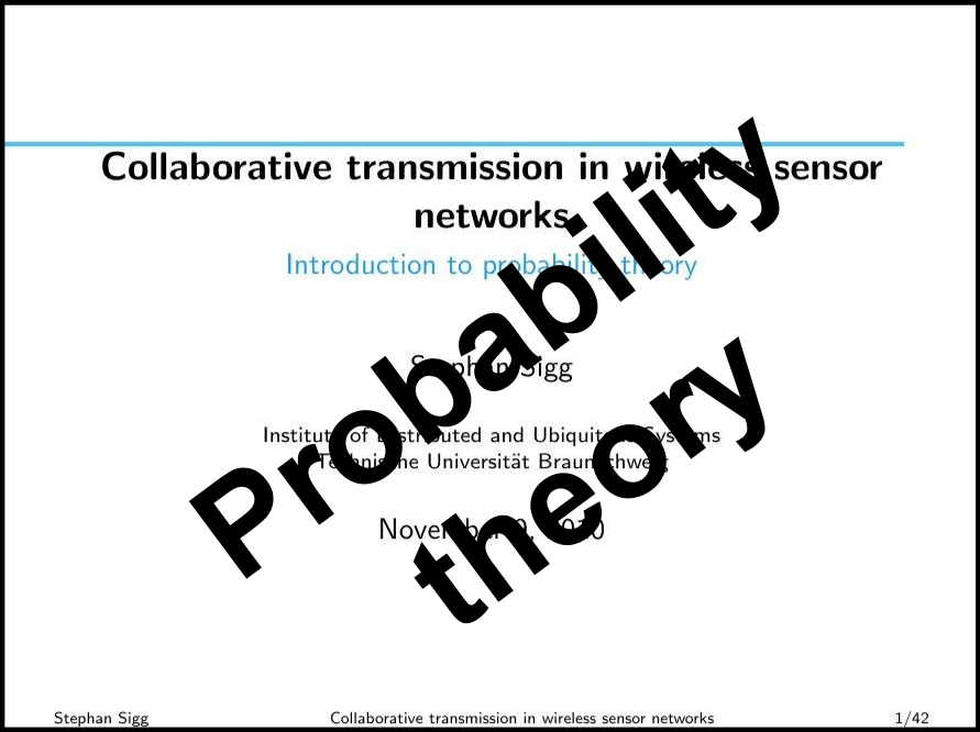 Introduction into probability theory
