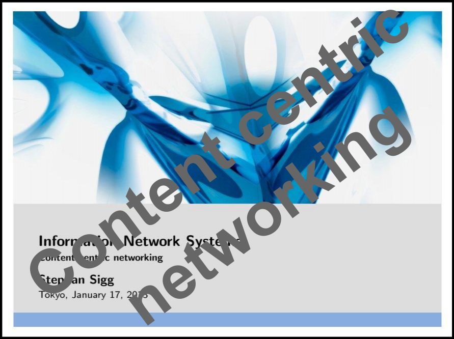 Content centric networking